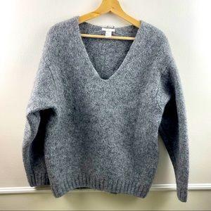 H&M grey wool/Acrylic heavy sweater
